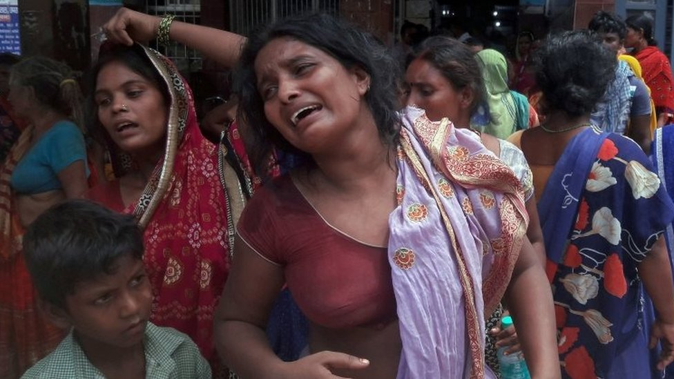 Relatives of the three men beaten to death mourn in Bihar, India. Photo: 19 July 2019