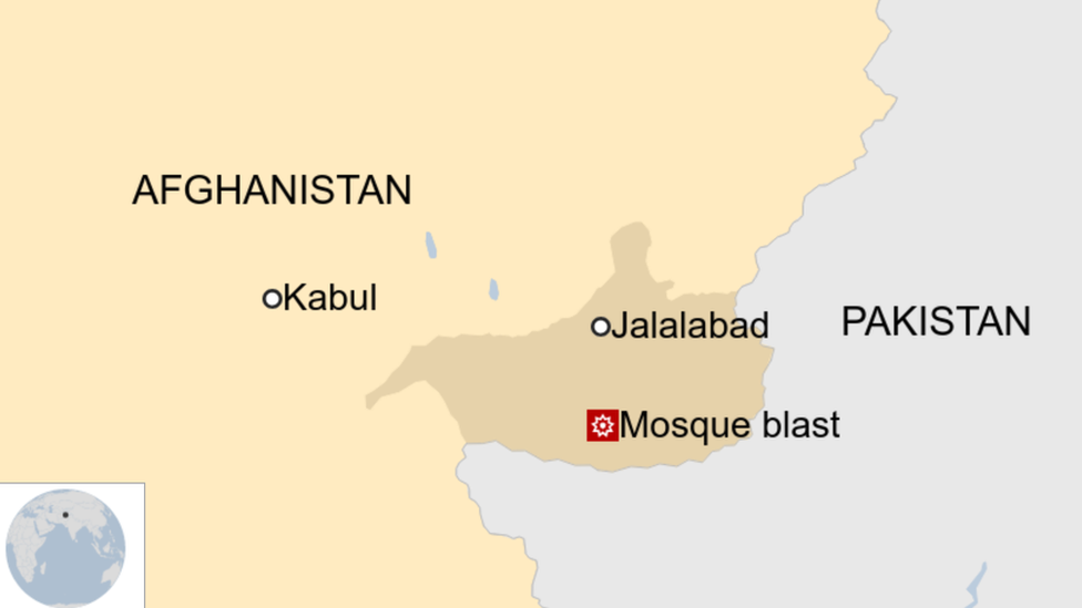 A map showing where the attack was in Afghanistan