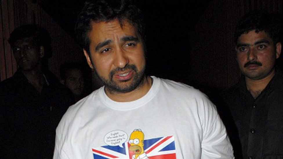 Raj Kundra attends a party in Mumbai in 2011