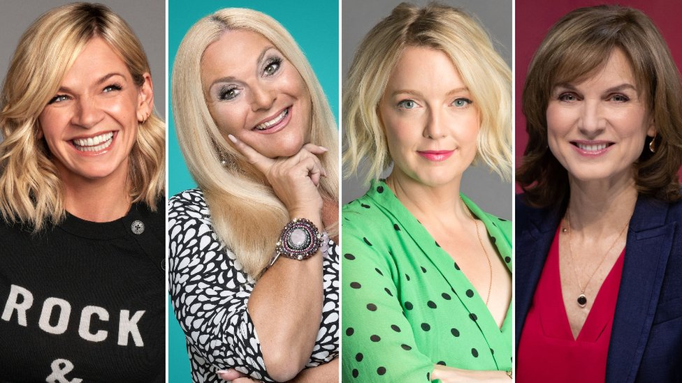 Zoe Ball, Vanessa Feltz, Lauren Laverne and Fiona Bruce
