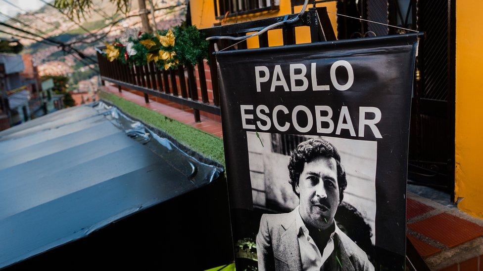 Cartel de Pablo Escobar en Medellín, Colombia