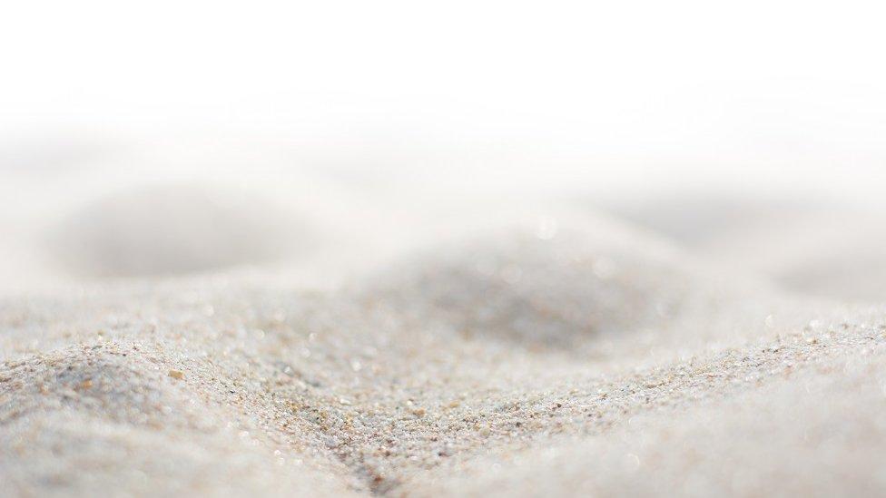 Una pila de arena