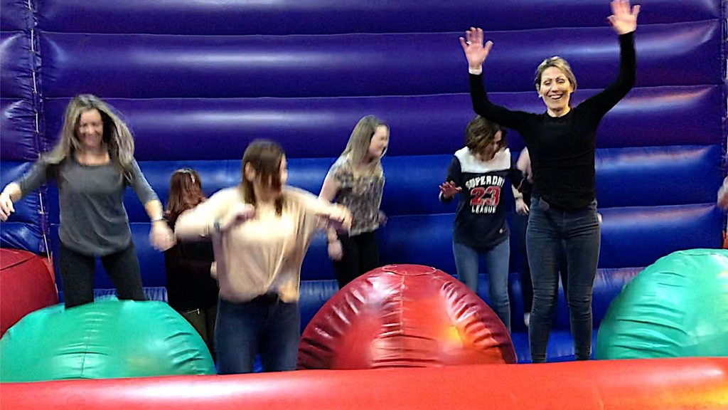 Adults-only inflatables night in Ipswich rekindles childhood joy