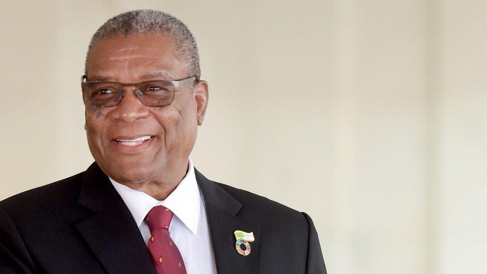 Sao Tome's President Evaristo Carvalho