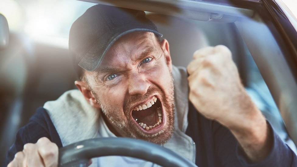 سائق غاضب