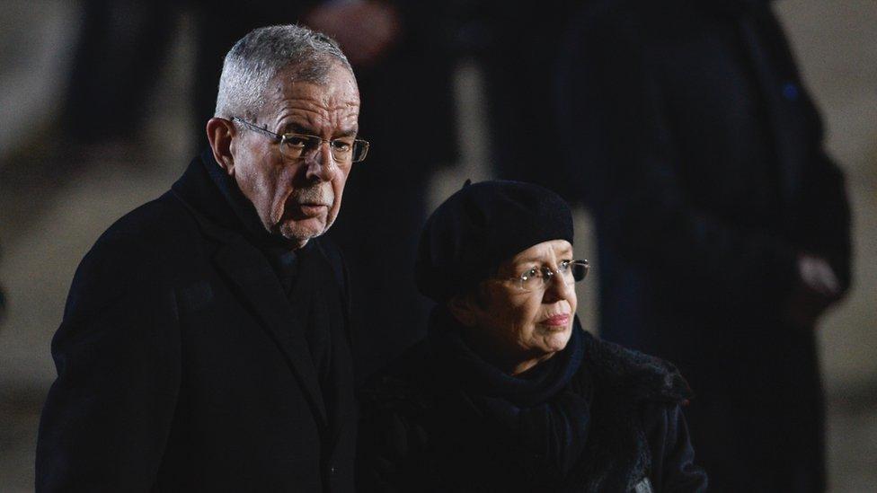 الرئيس النمساوي ألكسندر فان دير بيلين وزوجته