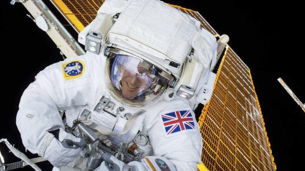 Tim Peake during his first spacewalk