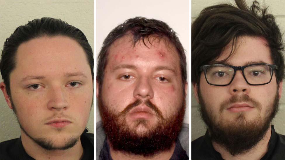 From left: Jacob Kaderli, Michael Helterbrand and Luke Austin Lane