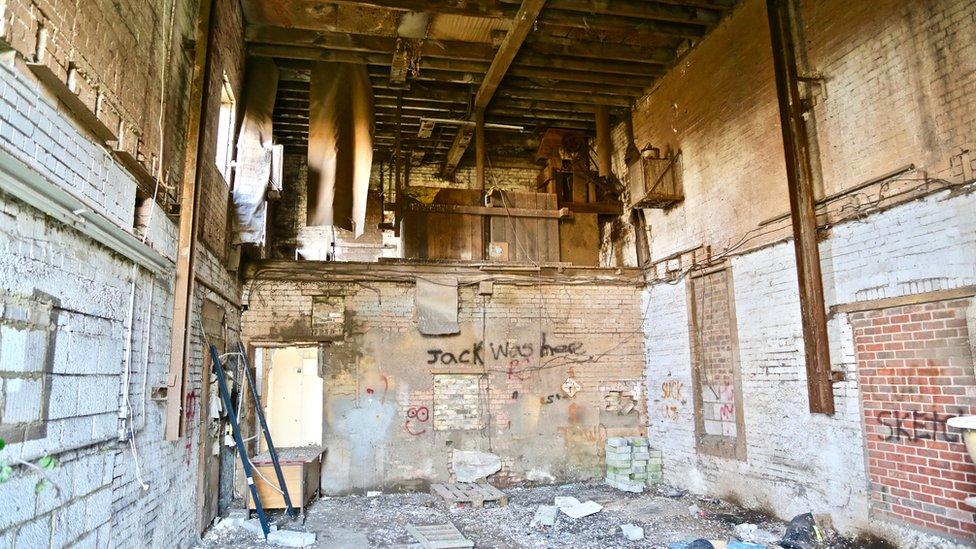 Inside the derelict Spencer Mill