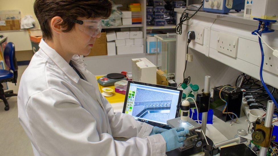 Dr Maiwenn Kersaudy-Kerhoas working in the lab with PLA.jpg