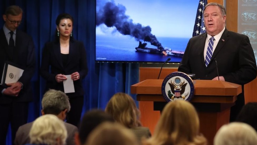 El secretario de Estado de Estados Unidos, Mike Pompeo, atribuyó lo ocurrido a un ataque ejecutado por Irán.