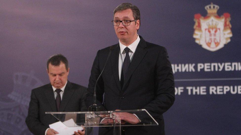 Predsednik Vučić i ministar Dačić