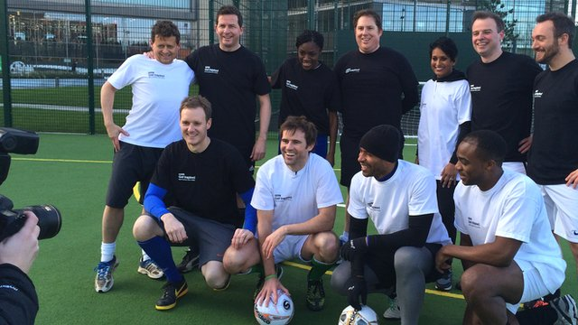 Kevin Kilbane with the team for FA People's Cup