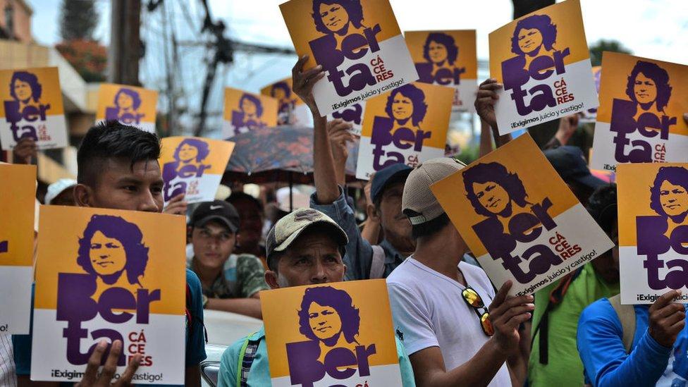 Manifestación recordando Berta Cáceres