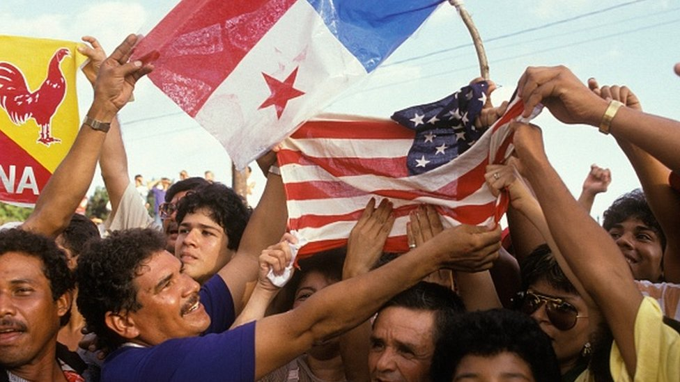 Manifestantes en Panamá