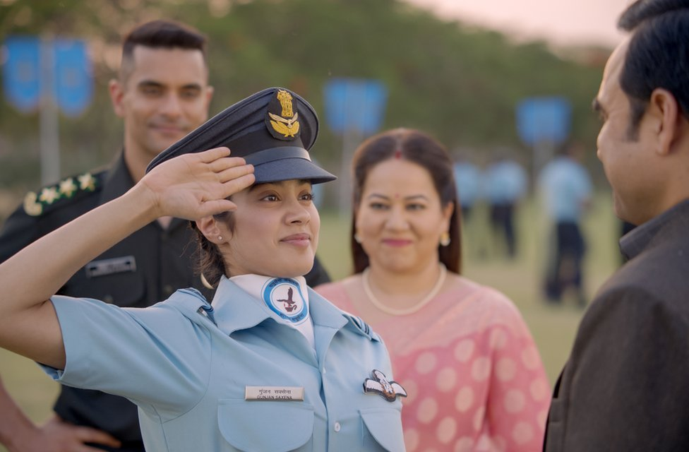 Gunjan Saxena India Female Pilot S War Biopic Flies Into A Row Bbc News