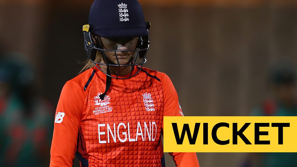 England v Bangladesh: Danni Wyatt trapped lbw in World Twenty20