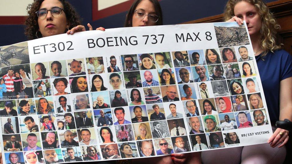 Friends of Ethiopian Airlines crash victim, Samya Stumo,
