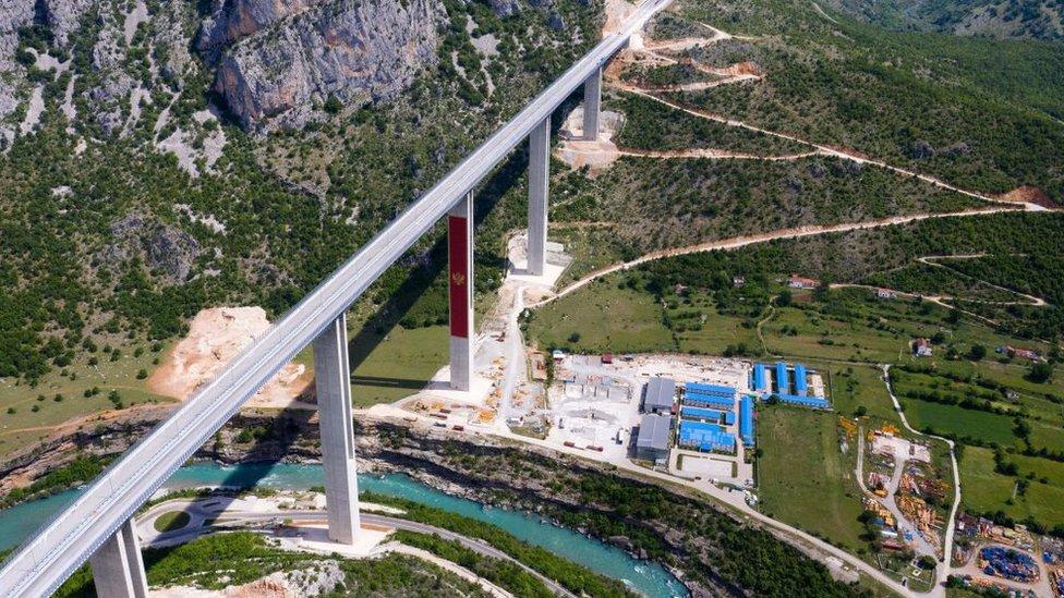 carretera en Montenegro financiada por China.