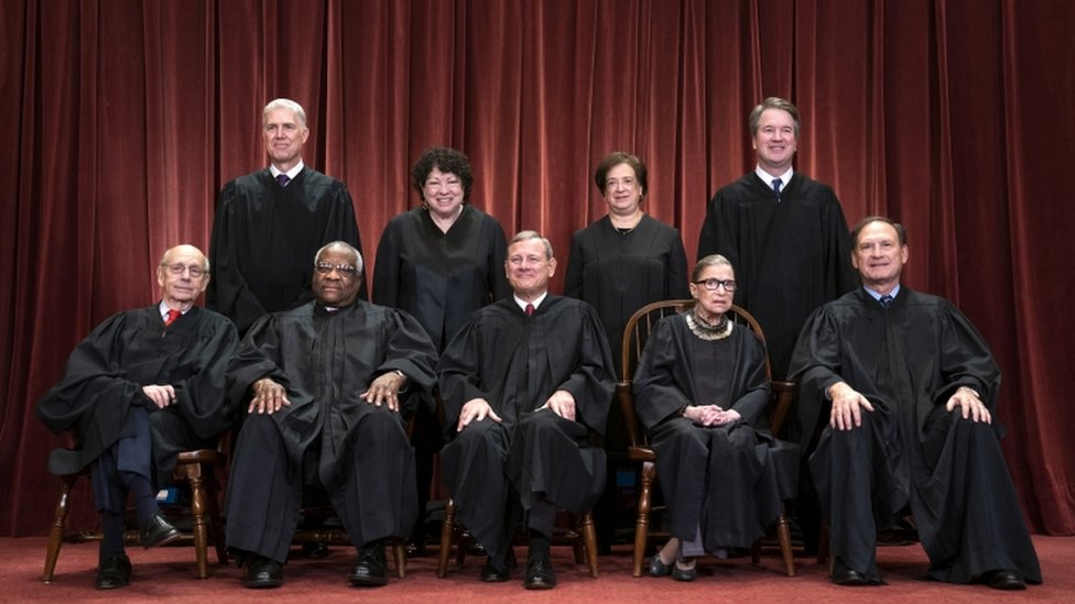 Supreme Court justices pictured in 2018