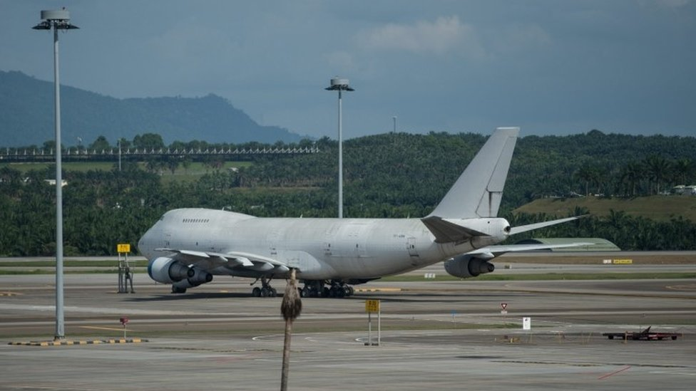 One of three Boeing 747 aircraft that have been abandoned at Kuala Lumpur International Airport