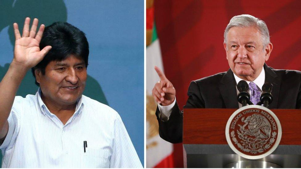 Evo Morales y Andrés Manuel López Obrador.