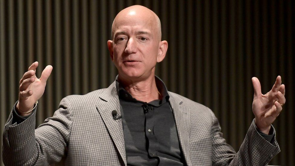 Jeff Bezos founded Amazon.