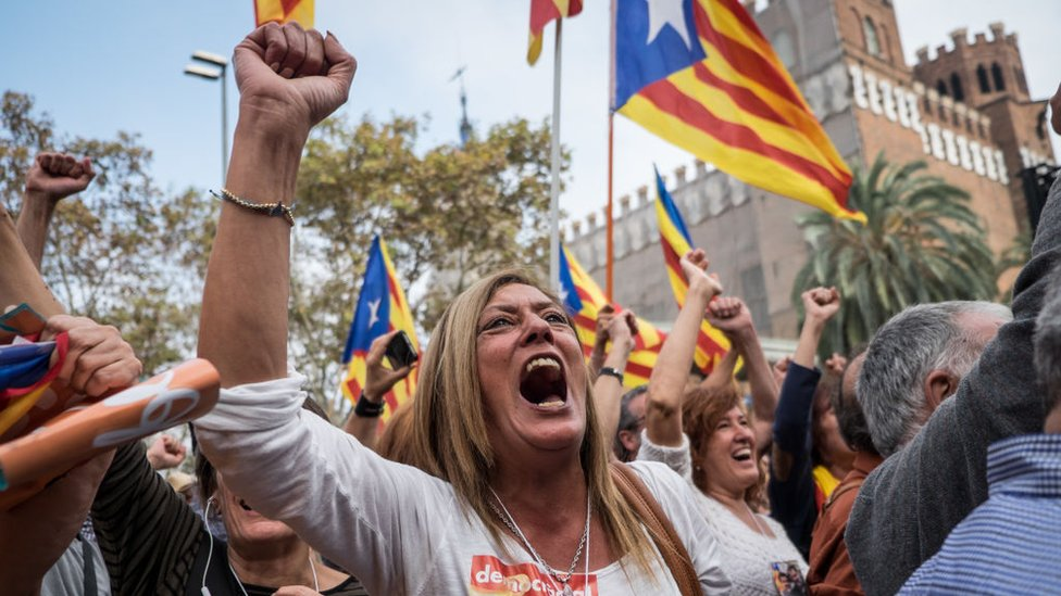 Katalan eylemciler