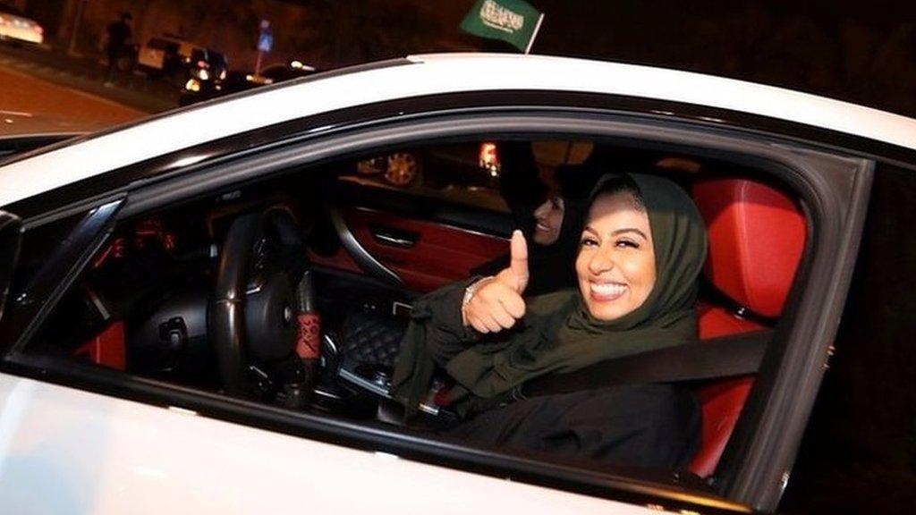 Celebrations as Saudi women hit the road