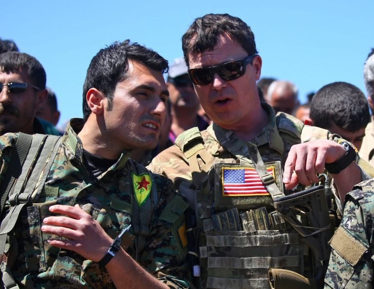 YPG ve ABD birlikleri