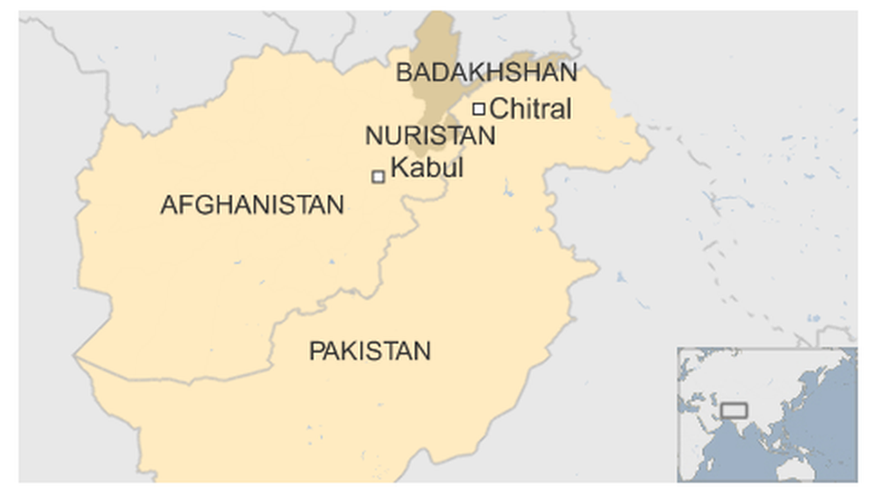 Map of Afghanistan and Pakistan