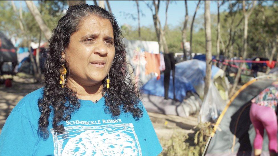 Charlene D'Cruz, una abogada que trabaja con los migrantes en Matamoros.