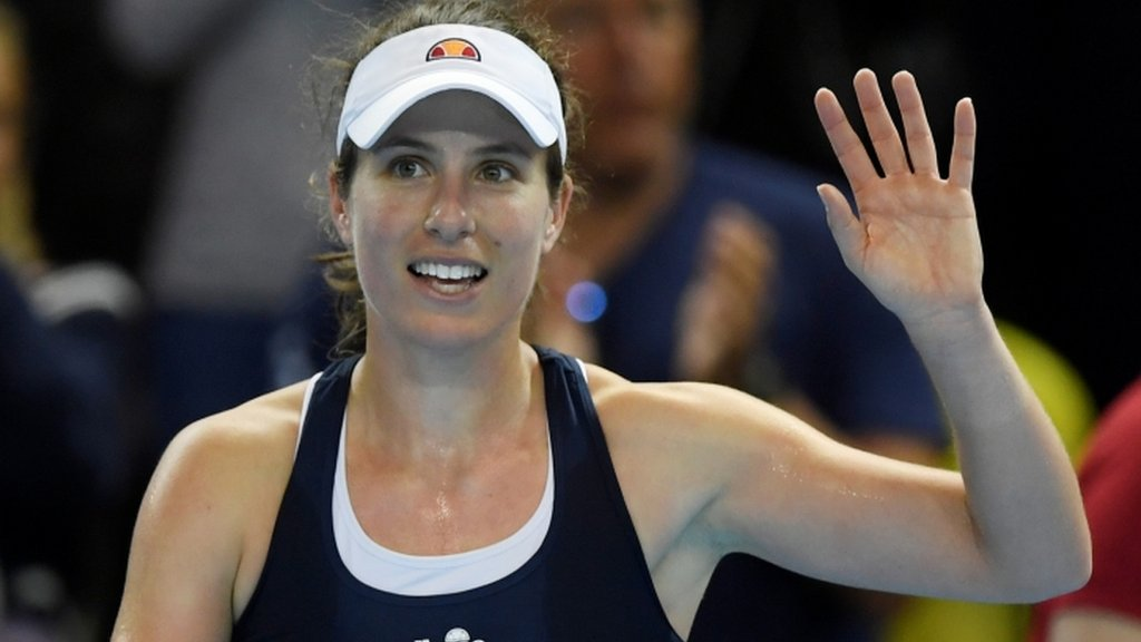 Fed Cup: Johanna Konta wins to put Great Britain 1-0 up against Kazakhstan