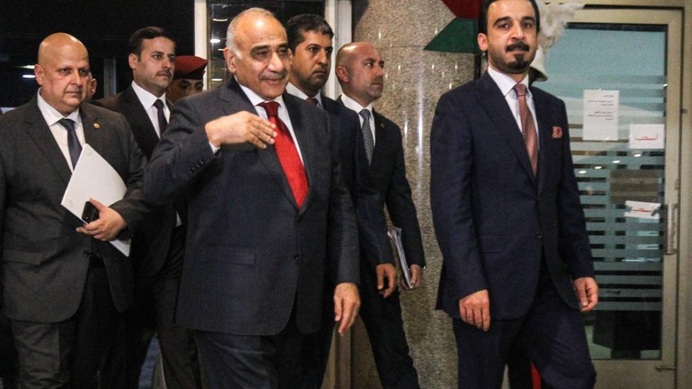 رئيس الحكومة المستقيل عادل عبد المهدي