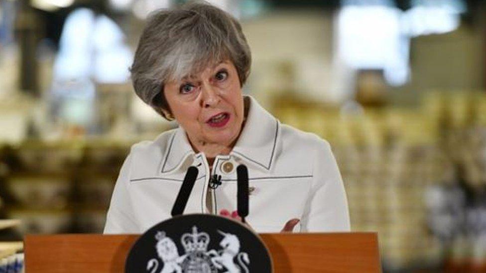 Theresa May Stoke-on-Trent speech: Arrests over stolen media pass