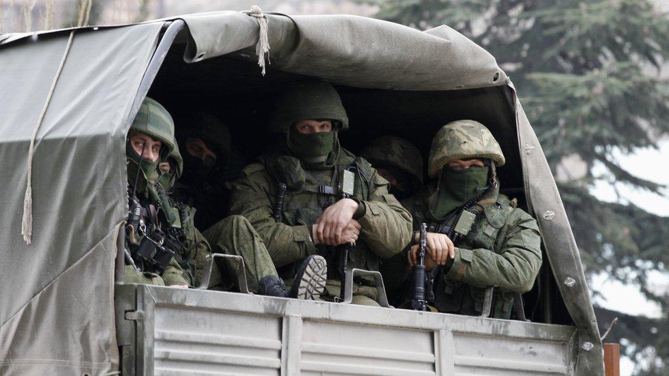 Russian troops in Crimea, 1 Mar 14