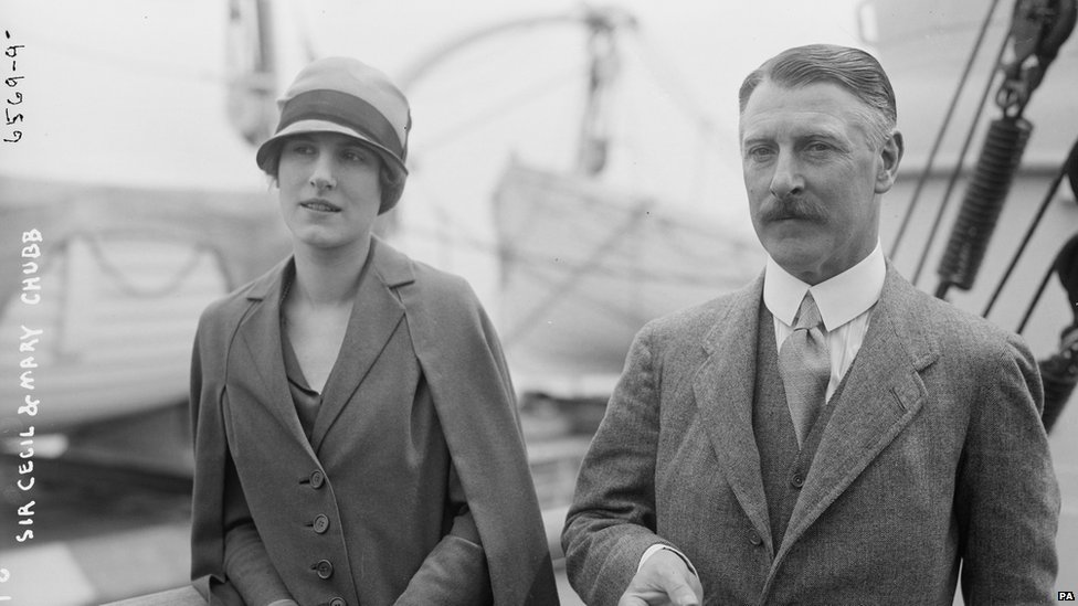 Sir Cecil Chubb and his daughter Mary