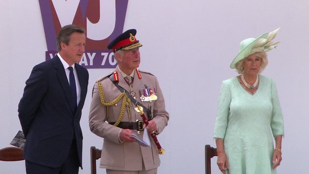 David Cameron, the Prince of Wales and Duchess of Cornwall