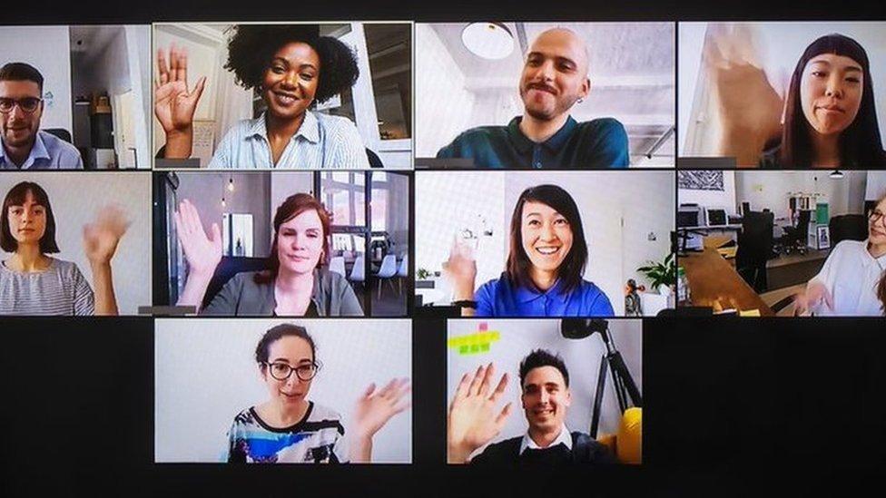 Millennials on a video call