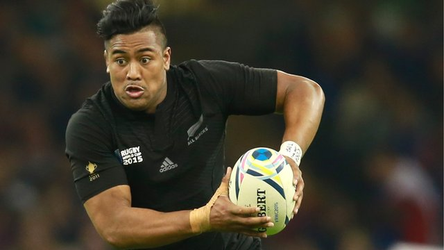 New Zealand wing Julian Savea in action at the 2015 Rugby World Cup