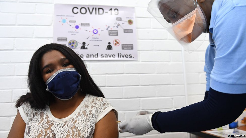 A trial of the Oxford vaccine in South Africa