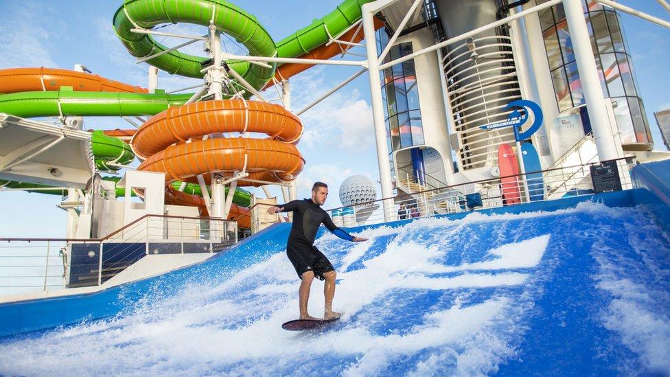 Water sports on board ship