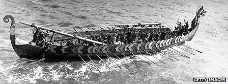 Replica Viking vessel Hugin