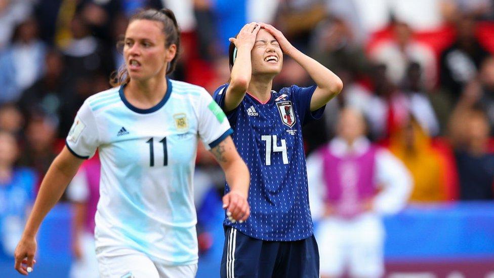 Partido entre Argentina y Japón en la Copa Mundial Femenina de Fútbol 2019