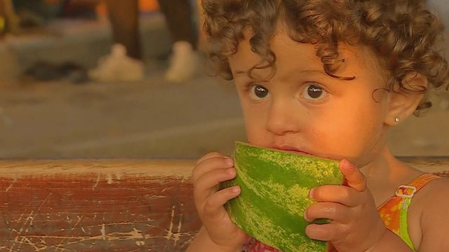 A migrant child in Kos
