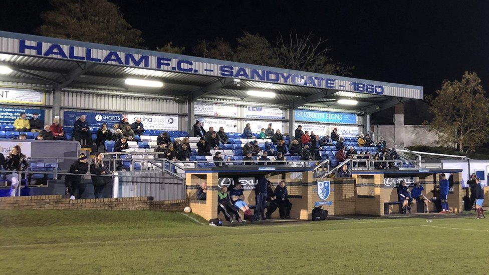 Fans at Hallam FC