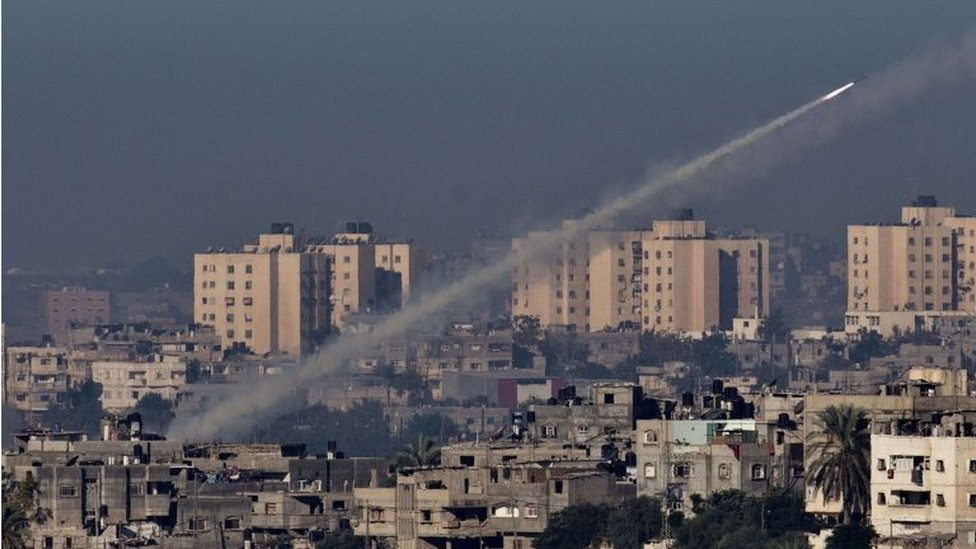 Rocket fired from Gaza towards Israel (file photo)