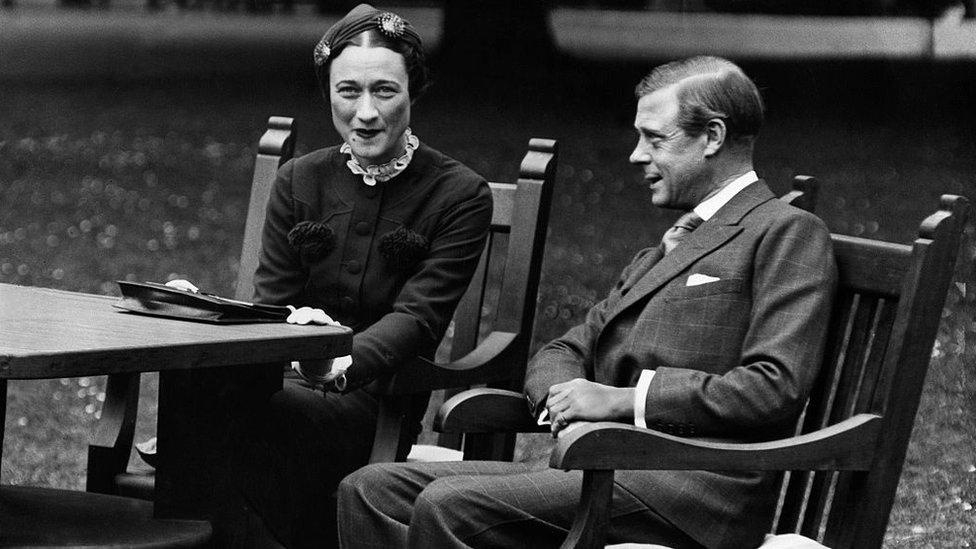 Wallis Simpson y el rey Eduardo VIII.