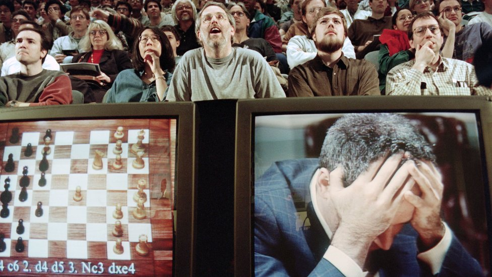 Garry Kasparov playing the computer Deep Blue in 1997