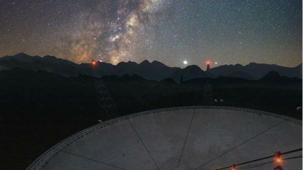En abril, el radiotelescopio FAST de China ayudó a observar el magnetar SGR 1935+2154, que produjo la primera ráfaga rápida de radio detectada en la Vía Láctea.